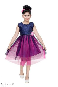 Checkout this latest Frocks & Dresses Product Name: *Kid's Girl's Dress* Fabric: Silk Sleeve Length: Sleeveless Pattern: Lace Multipack: Single Sizes: 8-9 Years, 9-10 Years Country of Origin: India Easy Returns Available In Case Of Any Issue   Catalog Rating: ★4 (228)  Catalog Name: Fabulous Kid's Girl's Dresses Vol 12 CatalogID_367142 C62-SC1141 Code: 972-2710198-066