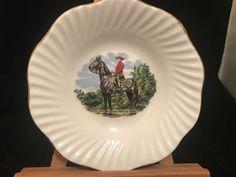 Vintage Royal Canadian Mounted Police Elizabethan Gold trimmed Bone China saucer