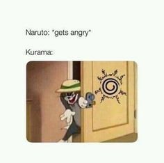 Naruto Kurama always on the watch - More memes, funny videos and pics on Art Naruto, Naruto Shippuden Characters, Naruto Sasuke Sakura, Naruto Cute, Naruto Shippuden Anime, Boruto, Sasunaru, Naruto The Last, Laughing Funny