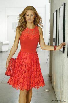 Linea Raffaelli. Couldn't wear this colour, but man do I like the dress.