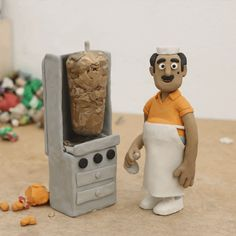 Stefano Colferai's Unique Plasticine Characters Clay Animation, Animation Stop Motion, Resin Sculpture, Sculptures, Disney Pixar, 3d Character, Character Design, Monster Co, Milan