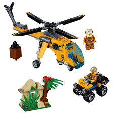 Build detailed jungle helicopter, an ATV, and the remaining ruins of an ancient jungle temple! Race through the jungle in search of the lost, golden chalice. Then, swoop down with the helicopter to retrieve the ATV and fly away to safety!