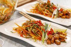 Japchae, Tofu, Spaghetti, Ethnic Recipes, Noodle
