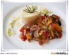 Kuskus se zeleninou podle Erika Bruschetta, Erika, Panna Cotta, Couscous, Ethnic Recipes, Food, Bulgur, Essen, Yemek