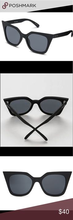 Quay Australia HARPER CAT EYE Sharp wing sunglasses as seen on celebrities and instagram. New with soft case included. Out of stock on the website. Quay Australia Accessories Sunglasses