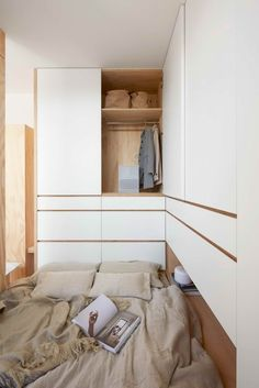Multi-function with Balance – FUGE 馥閣設計 Space Interiors, Bedroom Interiors, Small Apartments, Dressing Room, Shelter, Minimalism, Home Appliances, Woodworking, Projects