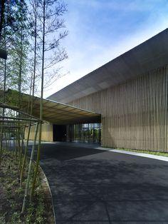 """""""Garden Terrace Miyazak"""" (2013)i   Shimohara-cho, Miyazaki, Japan • Kengo Kuma + Associates."""