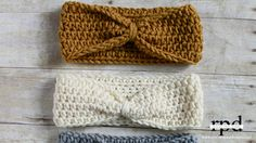 Knotted Crochet Headband Pattern