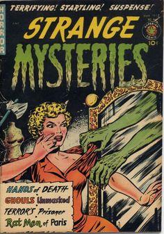 Comic Book Cover For Strange Mysteries #4