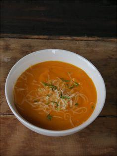 Receta sopa zanahoria zapallo cebolla cherrytomate