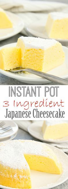 Instant Pot 3 Ingredient Japanese Cheesecake. This fluffy and light cheesecake is even easier and faster with the Instant Pot.