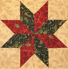 Neighborhood Quilt Club: Eight Pointed Star - Quilt Block TutorialI usually have 12 or more blocks in a quilt. Since our Block of the Month Group is only planning on 9 blocks, I decided to add a few of my o. I pushed the unsewn pieces from the above photo Christmas Blocks, Christmas Quilt Patterns, Star Quilt Patterns, Pattern Blocks, Christmas Star, Modern Christmas, Scandinavian Christmas, Christmas Trees, Christmas Quilting Projects
