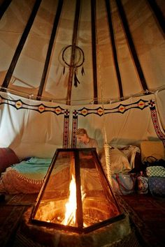 inside a teepee | Inside the tipi