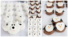 Polar Bears & Penguins Chocolate Covered Oreos from Pigskins & Pigtails Polar Bear Party, Panda Party, Polar Bears, Penguin Birthday, Penguin Party, Winter Birthday Parties, Birthday Party Themes, 14th Birthday, It's Your Birthday