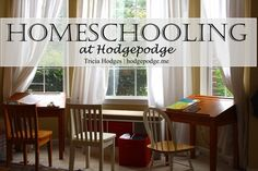 Homeschooling at Hodgepodge www.hodgepodge.me #art, FAQs, multiple ages, habits, free ebooks, Pinterest party, a continuing homeschool makeover and more