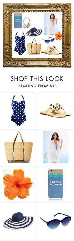 """Let's go swimming!"" by ipekzsuel on Polyvore featuring moda, Tory Burch, Vanessa Bruno, La Blanca, Kate Spade, Vera Bradley, Nanette Lepore ve Beats by Dr. Dre"