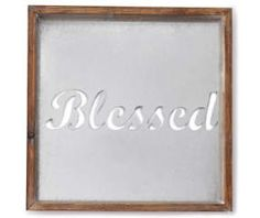 """""""Blessed"""" Inverse Box Metal Wall Décor $15"""