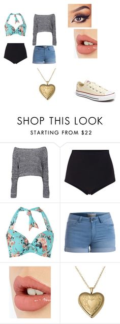 """""""Untitled #105"""" by danithemermaid on Polyvore featuring Boohoo, Cynthia Rowley, Dickins & Jones, Pieces, Charlotte Tilbury, Converse, women's clothing, women, female and woman"""