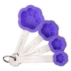 Purple Paw Silicone Measuring Spoon Set - Helps the ASPCA #AnimalRescue