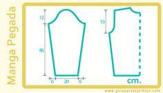 En las prendas tejidas las partes más complejas de calcular son las mangas. Esta es la primer entrega sobre como calcular 4 tipos de mangas ...