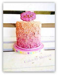 Buttercream Ombre Cake