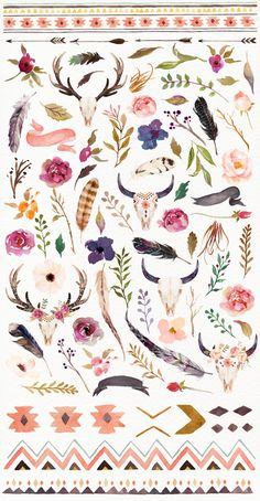 Watercolour Tribe&Flower DIY+Bonus - Illustrations - 4