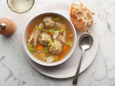 Turkey Vegetable Soup with Stuffing Dumplings : There's probably no better way to empty that overstuffed post-Thanksgiving refrigerator than a hearty soup. Using the turkey bones to make a broth for the soup is the best way to get every penny's worth from your bird. If your leftover stuffing is chunky and rustic, finely chop it to make these delicate dumplings.