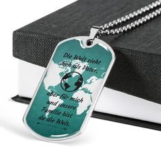BESTER VATER GIFT | German Dad Quotes | Custom Vater Jewerly | Dad Dog Tag | Vater Geburtstag | Proud German Gift | Male Necklace #VaterSohngeschenk #Vatergeburtstag #PersonalGermandadgift Engraved Dog Tags, Personalized Gifts For Dad, Engraved Gifts, Grandfather Gifts, Grandpa Gifts, Sister In Law Gifts, Gifts For Father, Engraved Necklace, Dog Tag Necklace