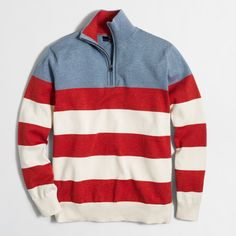 Factory multistriped half-zip sweater : THE STRIPES SHOP: NOW 40% OFF   J.Crew Factory