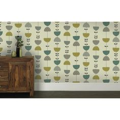 K2 Janey Feature Wallpaper Lime /Teal 10860 from Wilkinson Plus