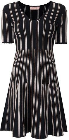 stripe-detail V-neck dress V Neck Dress, Twins, Detail, Sandals, Pants, Shopping, Dresses, Women, Fashion