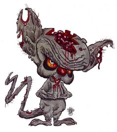 Zombie Art brain zombie