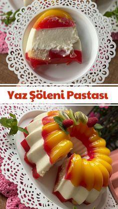 Jelly Recipes, Cake Recipes, Turkish Recipes, Ethnic Recipes, Flan, Cold Desserts, Frozen Yogurt, Food Presentation, Sauces