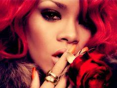 Rihanna Red Hair Photoshoot