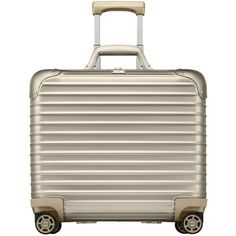 Rimowa North America Topas Titanium Business Multiwheel (€1.265) ❤ liked on Polyvore featuring bags, luggage, home travel luggage and stealth