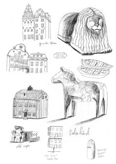 Sweden - Sketchbook - About Today - Illustration by Lizzy Stewart