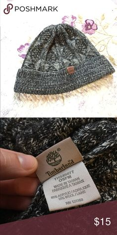 b0e553d96d7 Timberland Grey Cable Knit Beanie Salt and pepper-colored beanie with  cable-n it