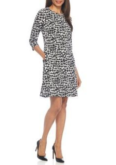 Nine West  Printed Swing Dress