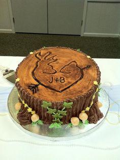 Stump grooms cake