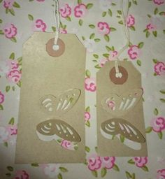 handmade butterfly gift tags