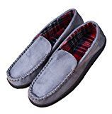 Men's Anti-slip Indoor/Outdoor Microsuede Moccasin Slippers with Hardsole  Soft And Comfortable  Plush slippers make your feet tightly wrapped in, which is cozy and warm while you stay at home. Hard rubber sole   You can easily go out to take delivery.  Machine washable.   All together makes this slipper extremely unforgettable.  We are a supplier that hold faithful attitude to service our customer, our hope is to let our customer get wonderful products and service from us. Your..