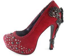 Hades shoes amina red stiletto heels platforms 7