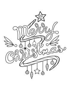 Merry Christmas Drawing, Merry Christmas Printable, Printable Christmas Coloring Pages, Christmas Artwork, Easter Coloring Pages, Christmas Doodles, Diy Christmas Cards, Christmas Bags, Christmas Paintings