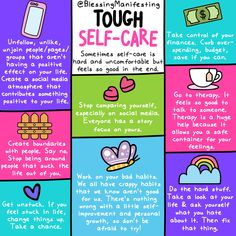 Tough Self-Love and Practicing Difficult Self-Care - Blessing Manifesting Mental And Emotional Health, Mental Health Matters, Mental Health Awareness, Understanding Anxiety, Tough Love, Self Care Activities, Self Compassion, Self Care Routine, Coping Skills