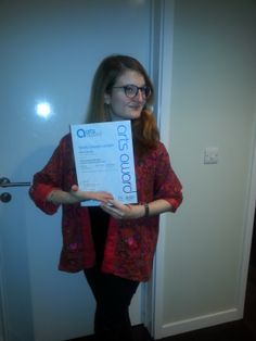 MAYP - Maria receives her Arts Awards Certificate. Well Done!!!