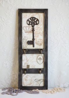 Cute idea... DIY with a old window or door? Add hooks and scrap paper for background