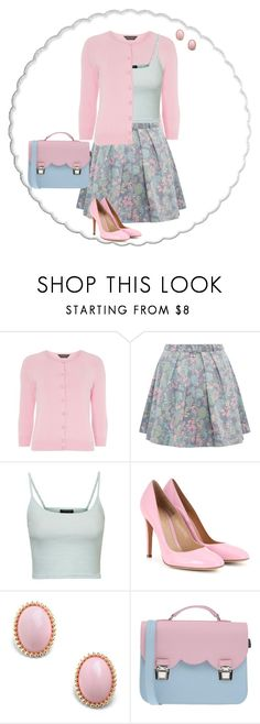 """Untitled #6985"" by msdanasue ❤ liked on Polyvore featuring Dorothy Perkins, Marc by Marc Jacobs, Topshop, Gianvito Rossi and La Cartella"