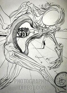 Salvador Dali sketch