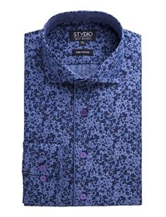 65a6ec59dd93 Stvdio by Jeff Banks Stvdio by Jeff Banks Blue Abstract Floral Print Shirt- currently  unavailable
