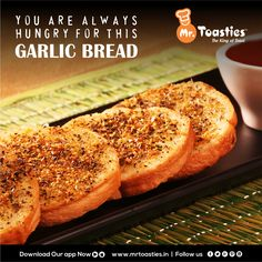 You are always hungry for this #GarlicBread #MrToasties